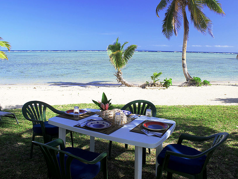When you don't feel like playing in the kitchen, order Room Service from our delicious Indo-Fijian Cuisine menu. Delivered fresh and hot to your cottage or on the beach (optional)
