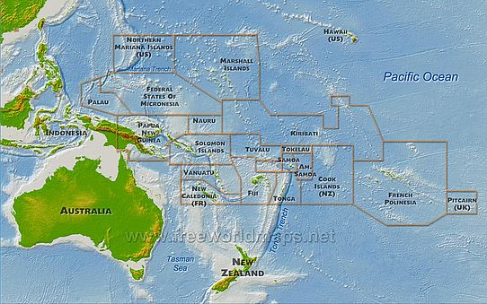 Oceania physical-map (by freeworldmaps.net)